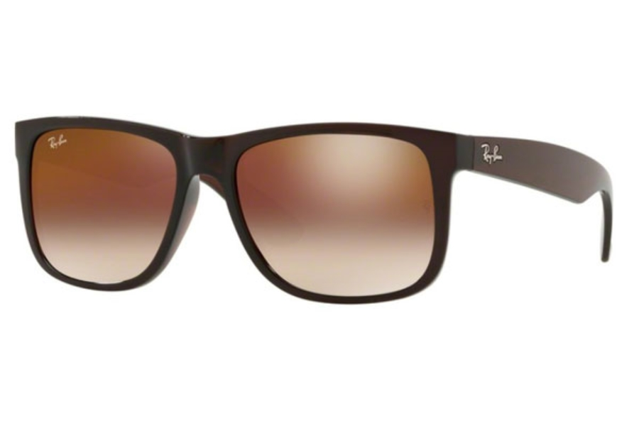 Ray-Ban RB 4165 JUSTIN Sunglasses in 714/S0 Brown / Brown Gradient Mirror Red