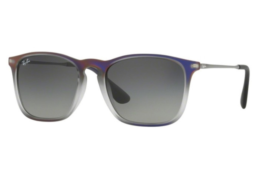 Ray-Ban RB 4187 Sunglasses in 622311 Violet Shot On Black / Grey Gradient Dark Grey