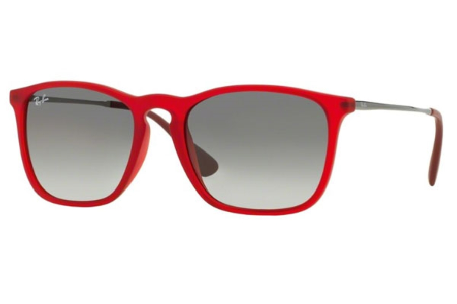 Ray-Ban RB 4187 Sunglasses in 898/11 Rubber Trasparent Red / Grey Gradient