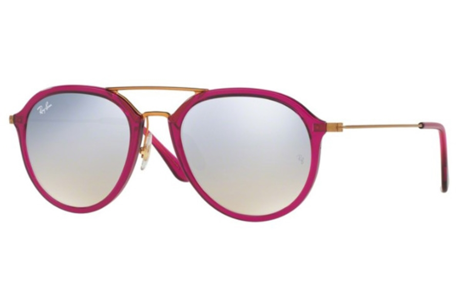 Ray-Ban RB 4253 Sunglasses in 62359U Shiny Fuxia / Grey Flash Gradient