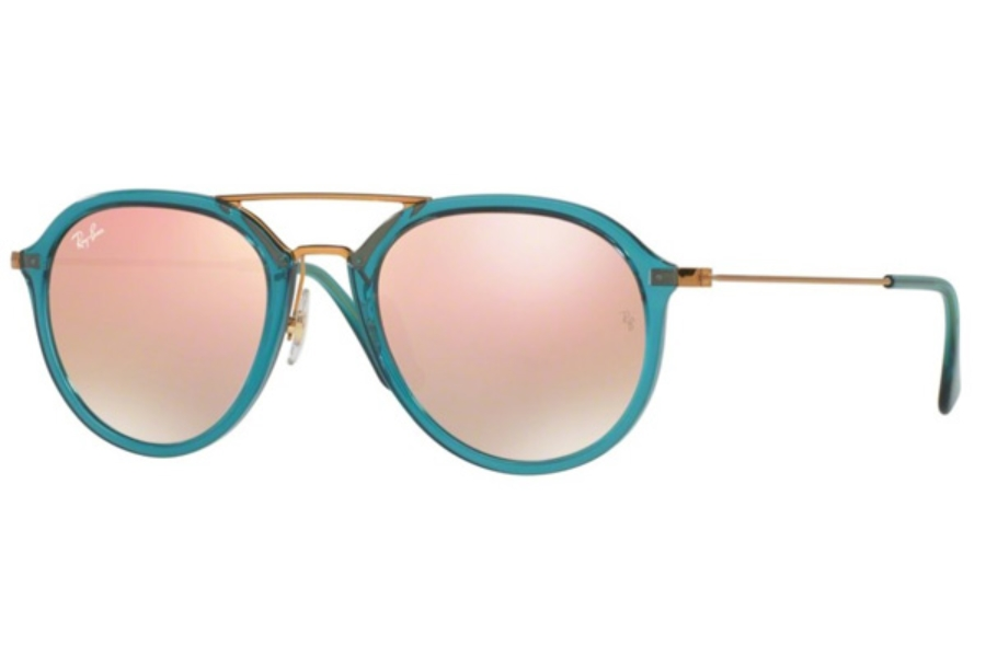 Ray-Ban RB 4253 Sunglasses in 62367Y Torquoise / Copper Flash Gradient