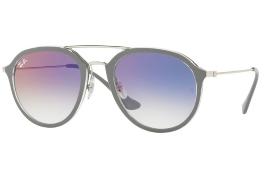 Ray-Ban RB 4253 Sunglasses in 6337S5 Top Grey On Transparent / Clear Gradient Violet