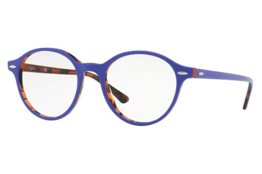 4932f81ff5c4 Ray-Ban RX 7118 Eyeglasses in 5716 Top Violet On Havana Orange ...