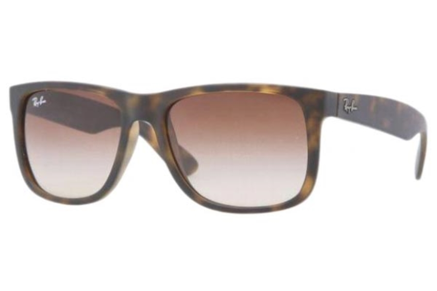 Ray-Ban RB 4165 JUSTIN Sunglasses in 710/13 Rubber Light Havana Brown Gradient