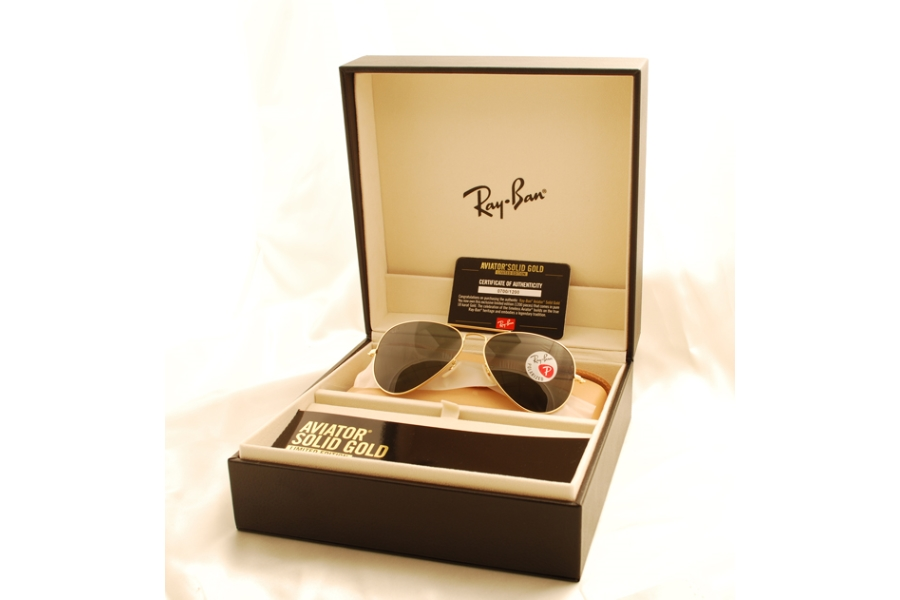 cd0906f0d Ray-Ban RB 3025K (Aviator 18KT Solid Gold Limited edition) Sunglasses in  160 ...