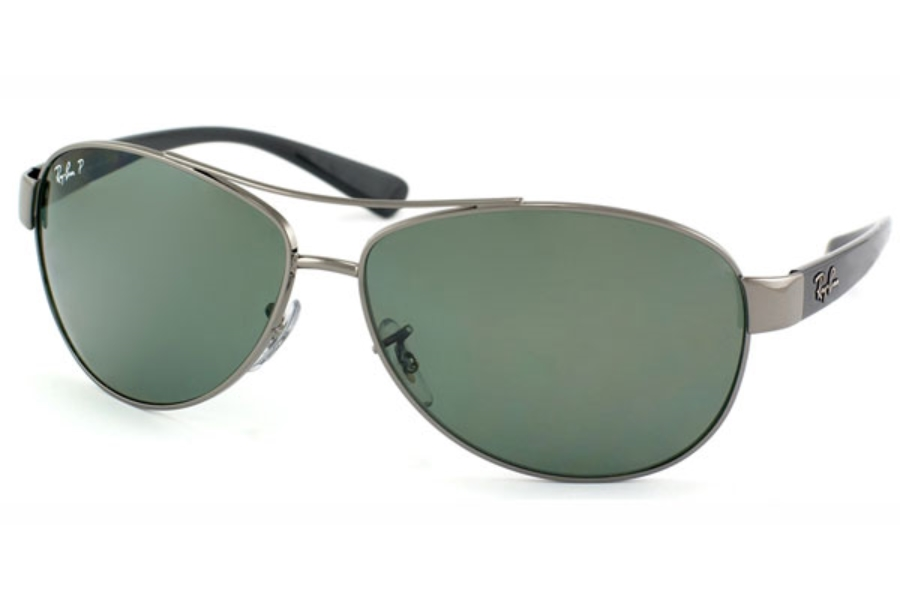 Ray-Ban RB 3386 Sunglasses in 004/9A Gunmetal Polar Green