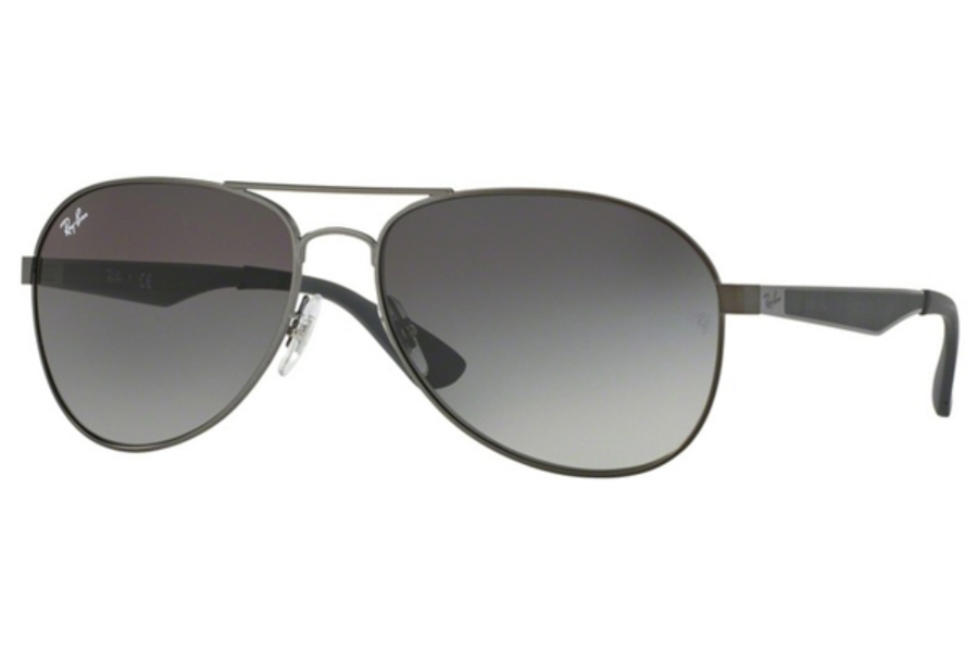 Ray-Ban RB 3549 Sunglasses in 029/11 Matte Gunmetal / Gradient Grey