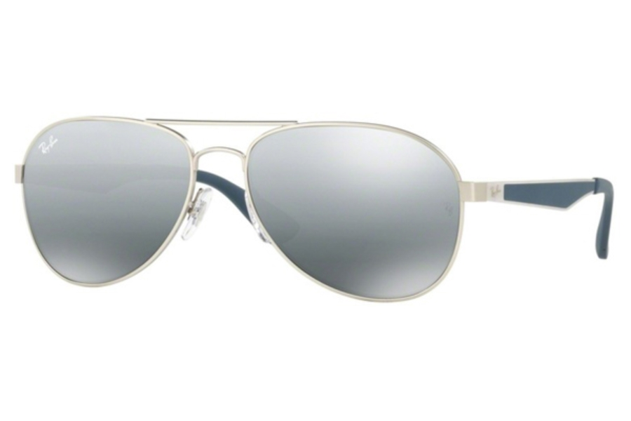 Ray-Ban RB 3549 Sunglasses in 901288 Matte Gunmetal / Mirror Gradient Grey