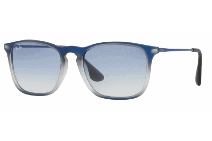 Ray-Ban RB 4187 Sunglasses in 622519 Blue Shot On Black / Clear Gradient Light Blue