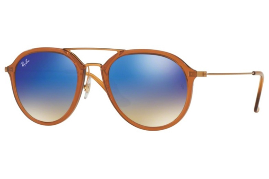 Ray-Ban RB 4253 Sunglasses in 62388B Shiny Brown / Blue Flash Gradient