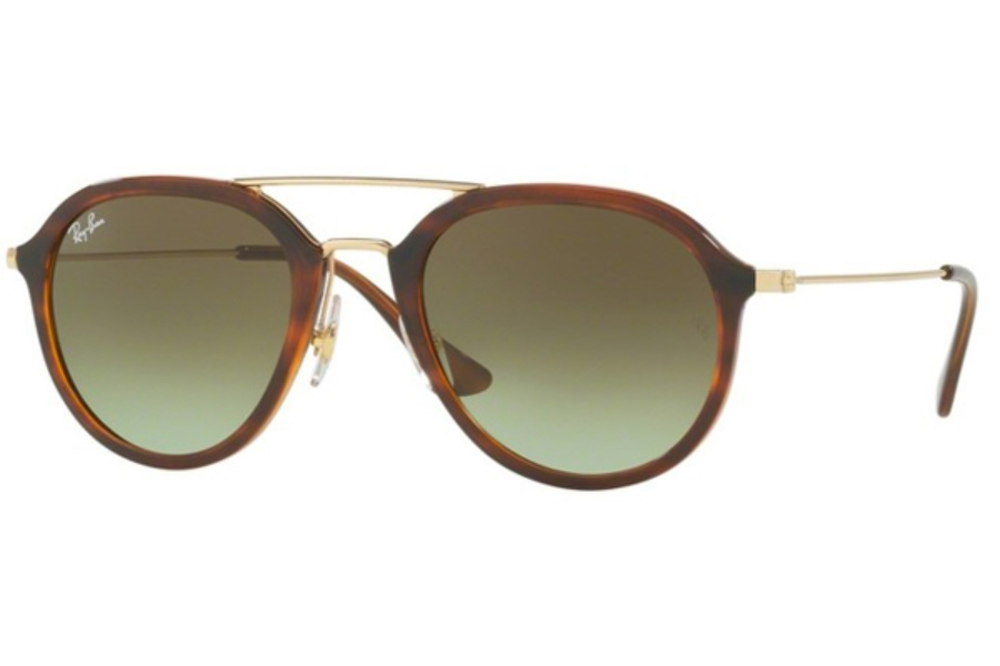 Ray-Ban RB 4253 Sunglasses in 820/A6 Stripped Havana / Green Gradient Brown