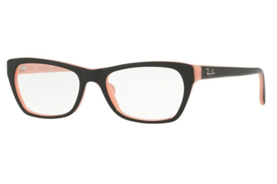 Ray-Ban RX 5298 Eyeglasses in 5024 Top Black On Pink