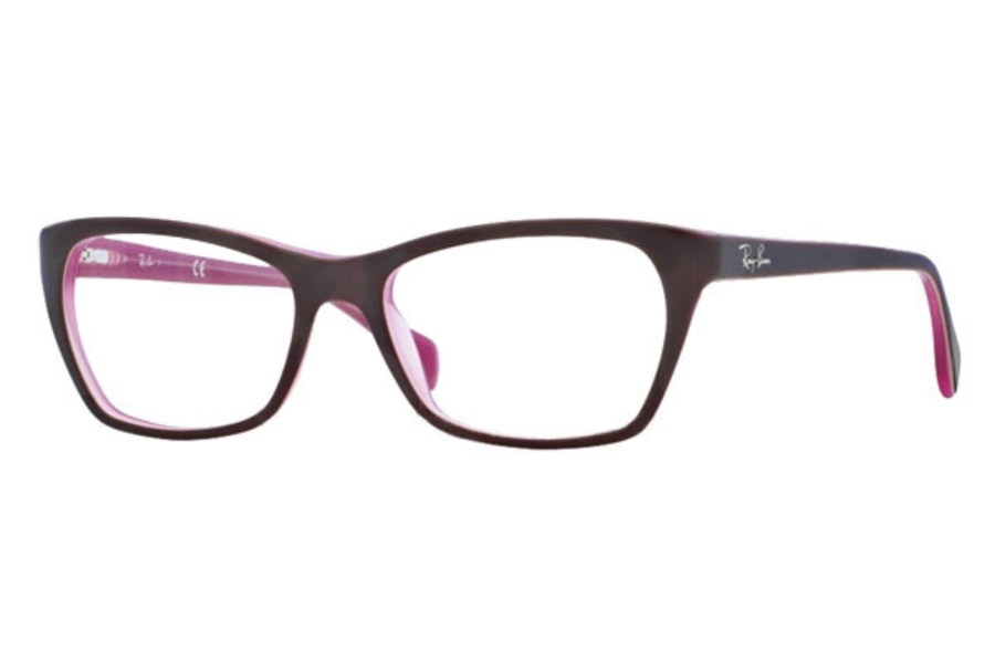 Ray-Ban RX 5298 Eyeglasses in 5386 Top Matte Brown On Opal Pink