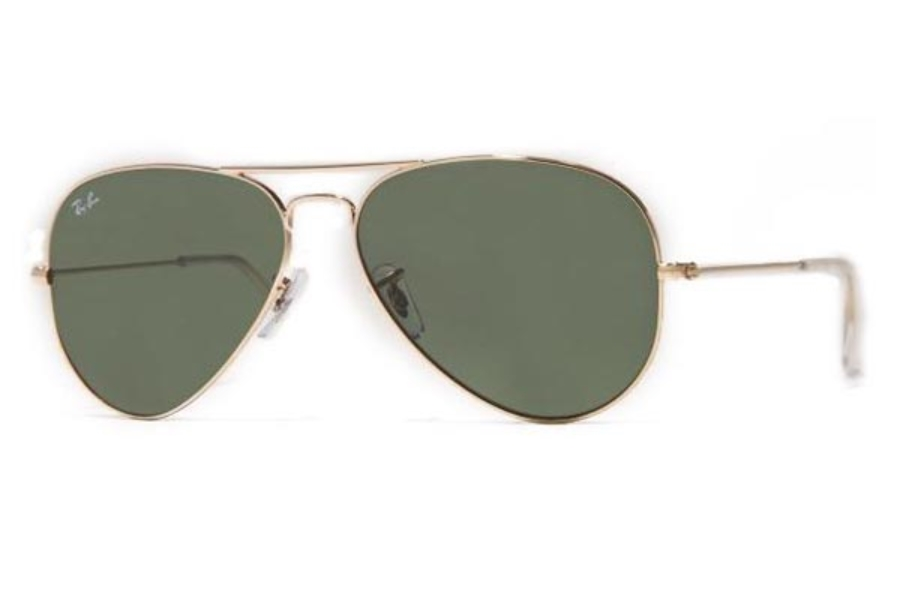 Ray-Ban RB 3025 (Aviator Large Metal) Sunglasses in L0205 Arista Gold with glass G15 XLT lens (58 Eyesize Only)