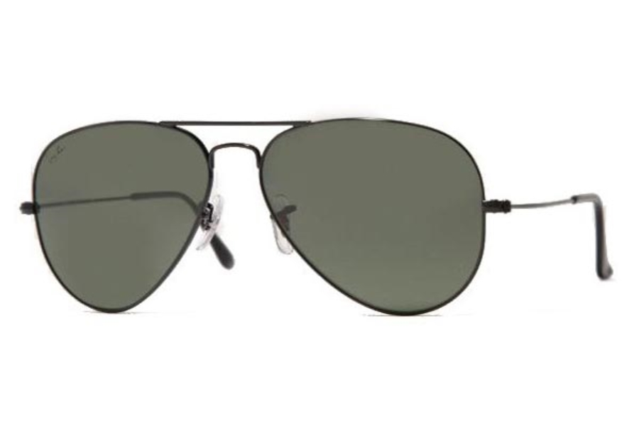 Ray-Ban RB 3025 (Aviator Large Metal) Sunglasses in L2823 Black with glass G15 XLT lens (58 Eyesize Only)