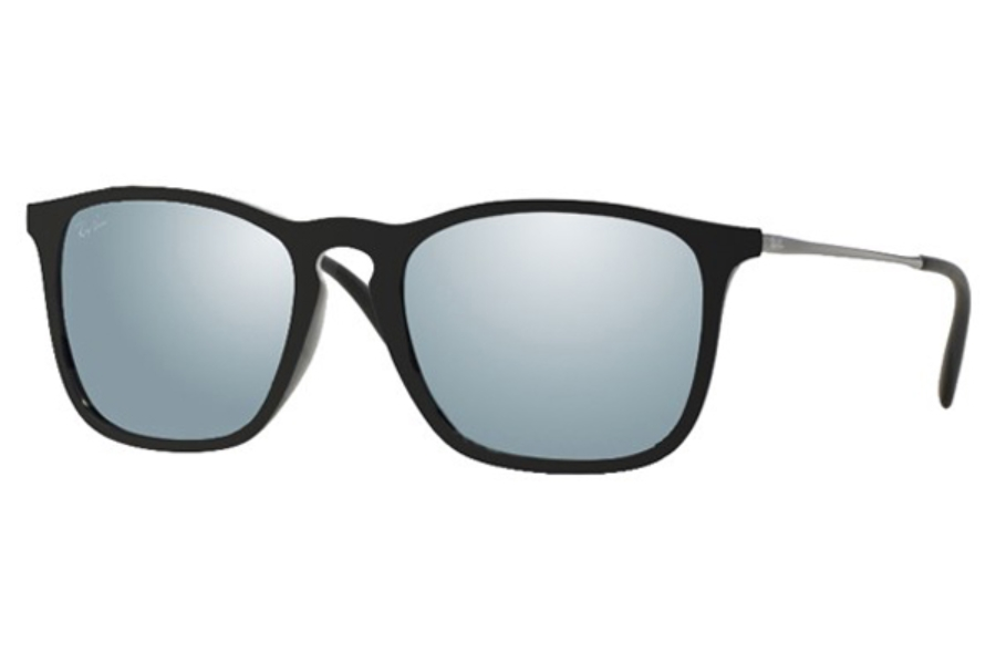 Ray-Ban RB 4187 Sunglasses in 601/30 Black Green Mirror Silver