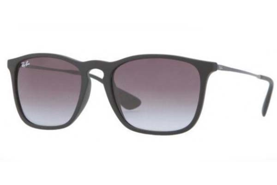 Ray-Ban RB 4187 Sunglasses in 622/8G RUBBER BLACK GREY GRADIENT
