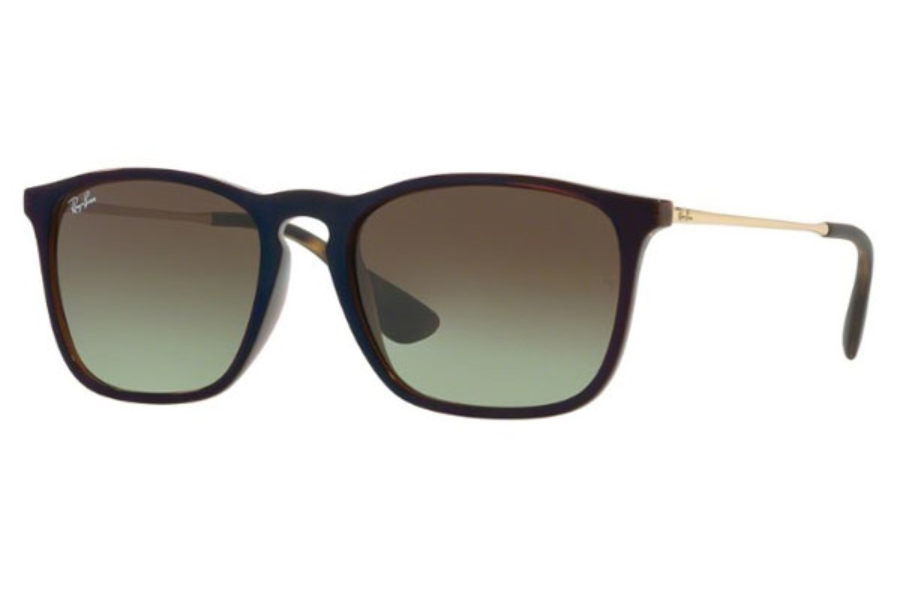 Ray-Ban RB 4187 Sunglasses in 6315E8 Trasparent Brown Sp Blu / Green Gradient Brown
