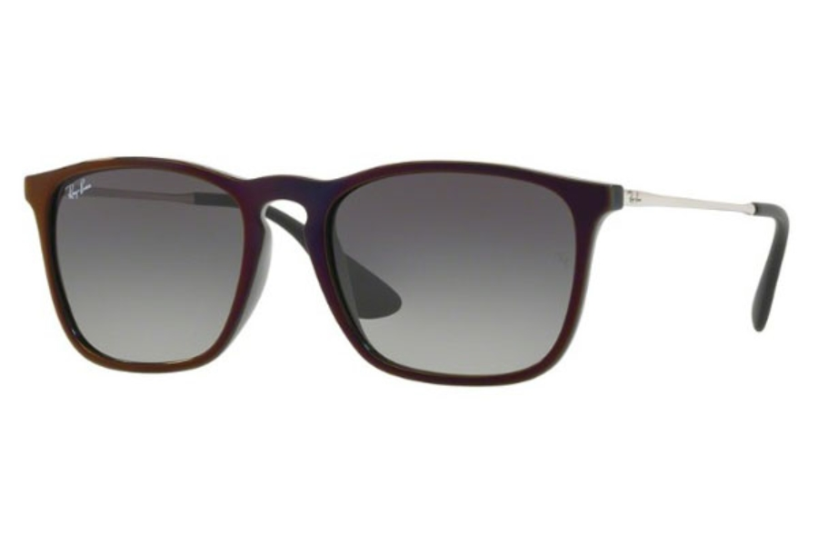 Ray-Ban RB 4187 Sunglasses in 631611 Black Sp Red / Grey Gradient Dark Grey