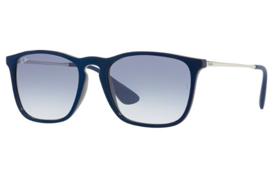 Ray-Ban RB 4187 Sunglasses in 631719 Shiny Blu Mirror Blu / Clear Gradient Light Blue
