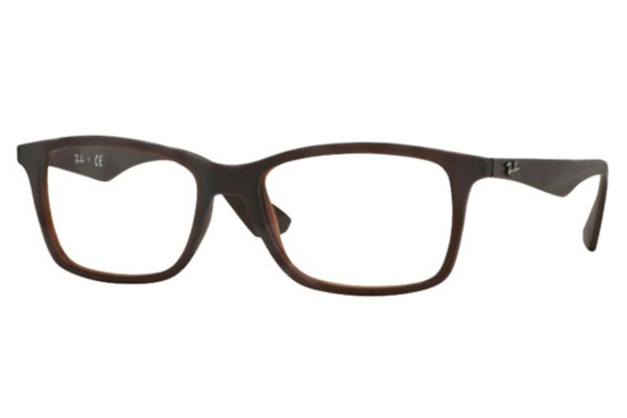Ray-Ban RX 7047 Eyeglasses in 5451 Matte Trasp Brown