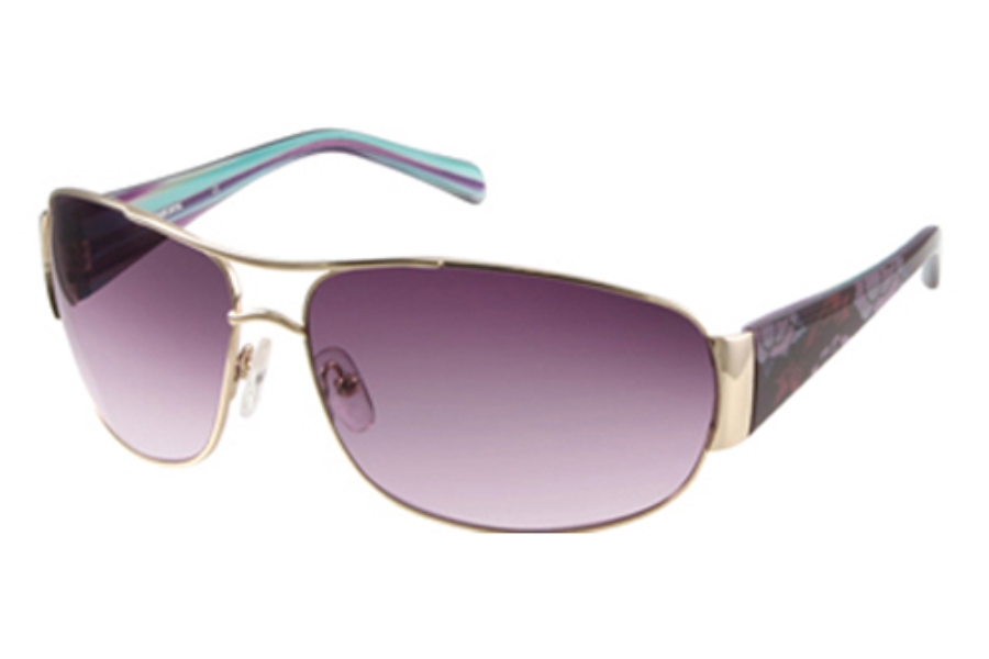 Skechers SK 7002 Sunglasses in Gold w/Purple-Pink Gradient Lenses