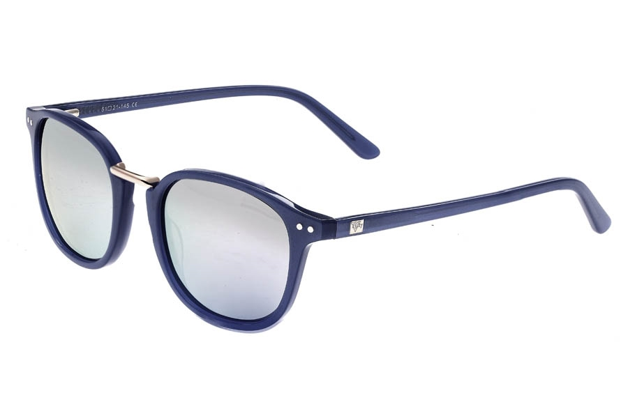 Sixty One Champagne Sunglasses in Navy/Silver