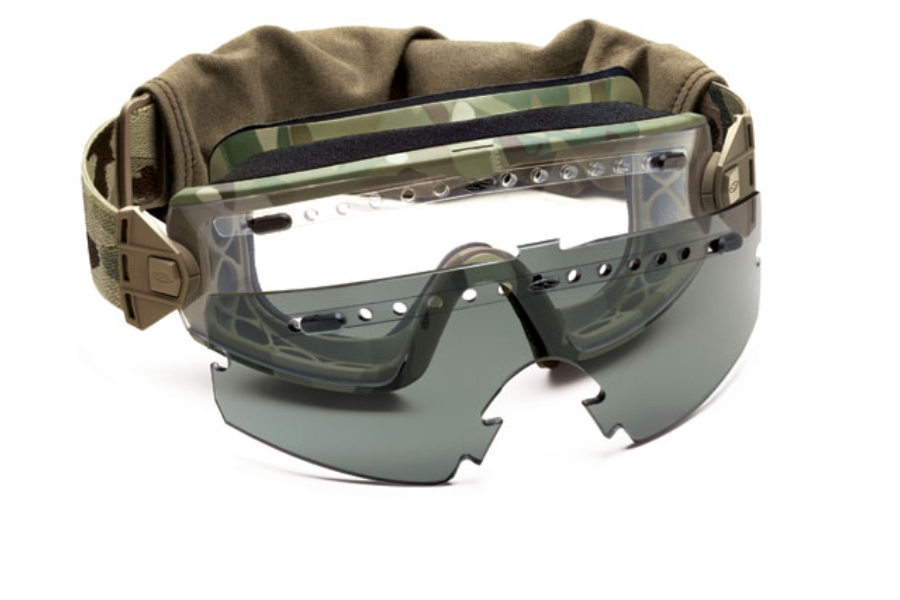 c83348a779cc6 ... Smith Optics LOPRO Regulator Goggle Goggles in Multicam w  Clear  Installed