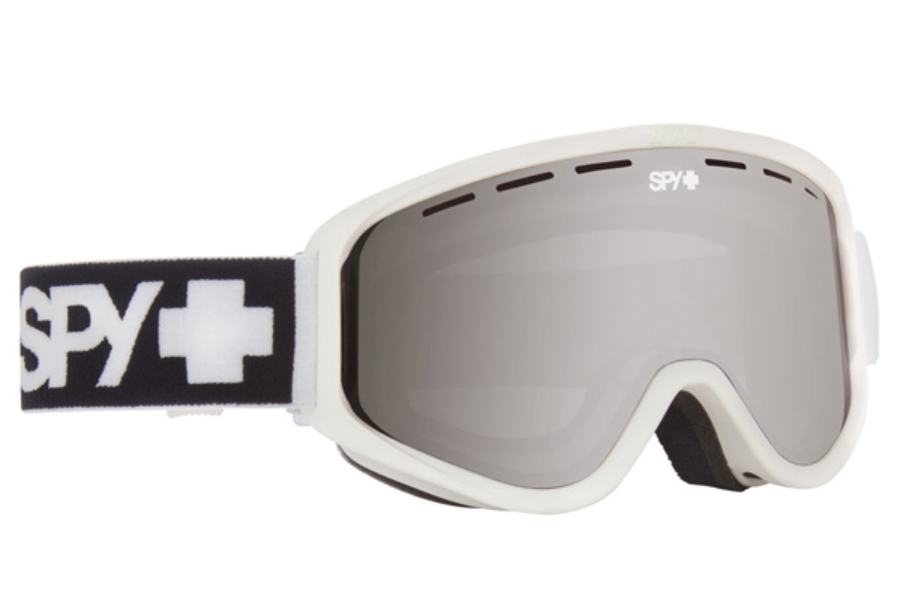 Spy WOOT MX - Continued I Goggles in Matte White / Silver Mirror + Persimmon