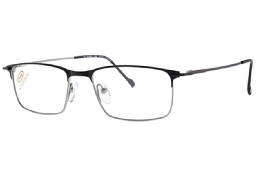 Stepper Titanium 60088 SI Eyeglasses in F092 Black