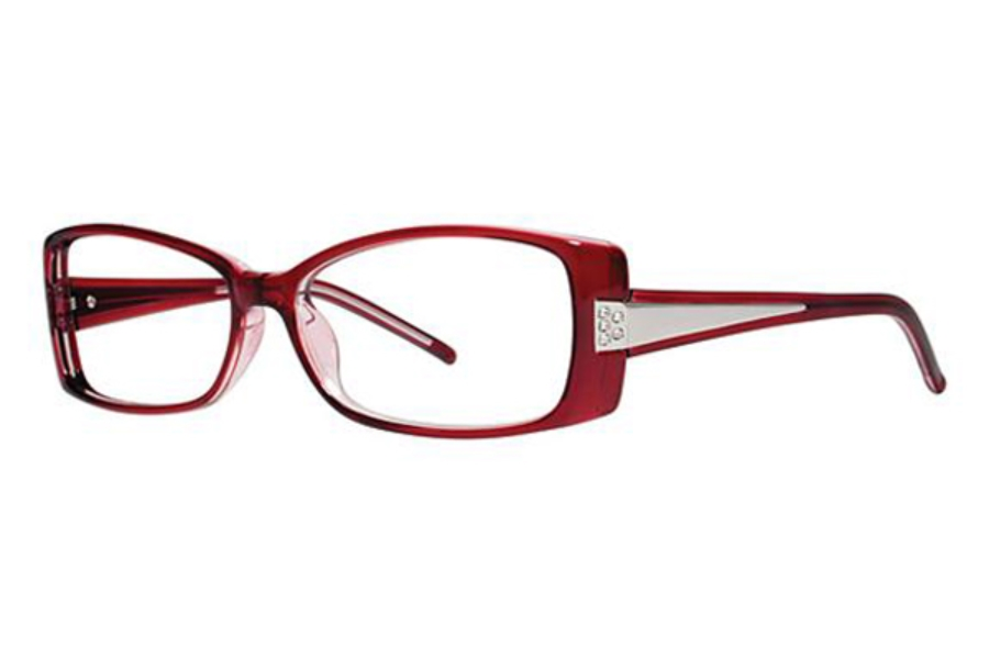 Genevieve Boutique Swagger Eyeglasses in Burgundy/Crystal