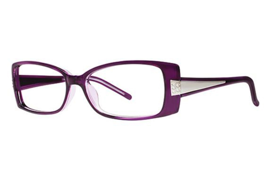 Genevieve Boutique Swagger Eyeglasses in Wine/Crystal