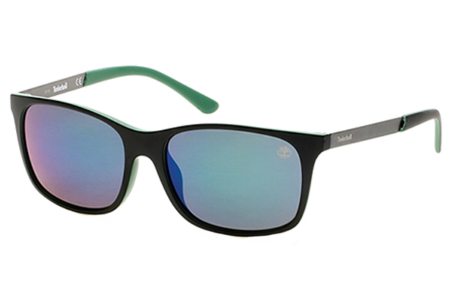 fa3be5e2ef Timberland TB9095 Sunglasses in 98D - Dark Green/Other / Smoke Polarized ...