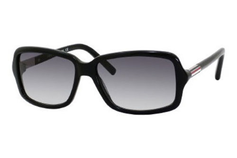 Tommy Hilfiger TH 1000/S Sunglasses in 0807 Black / Palladium (JJ gray gradient lens)