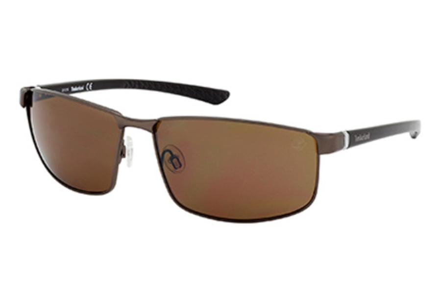 Timberland TB9035 Sunglasses in 49H Matte Dark Brown / Brown Polarized