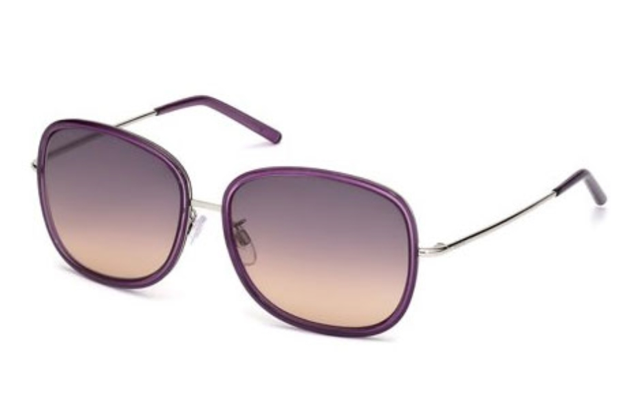 Tod's TO 0047 Sunglasses in 81W Shiny Violet / Gradient Blue Lens
