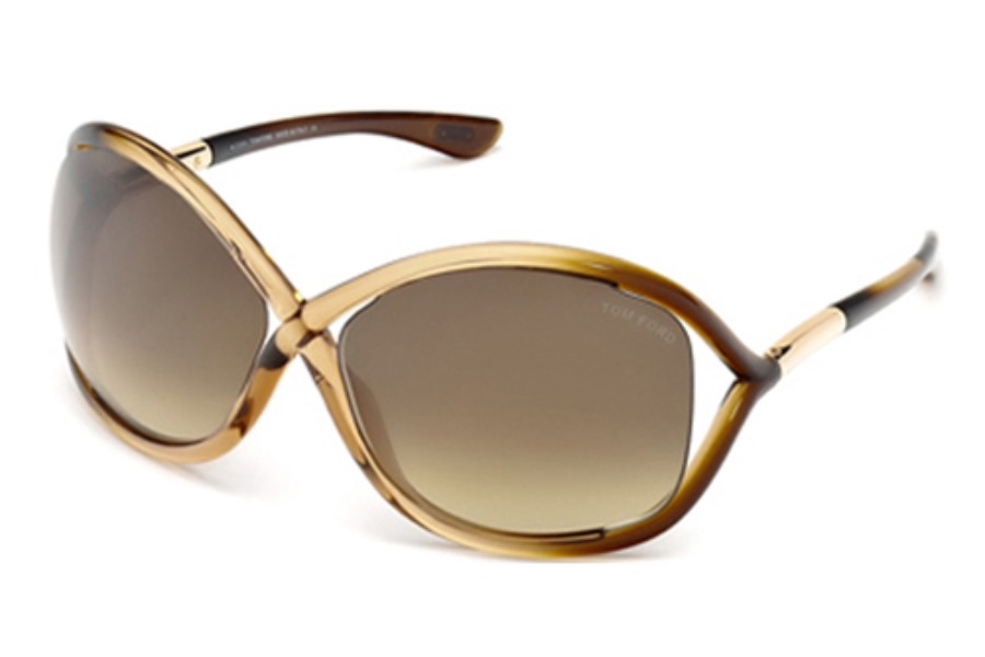Tom Ford FT0009 Whitney Sunglasses in 74F  Pink /Other / Gradient Brown
