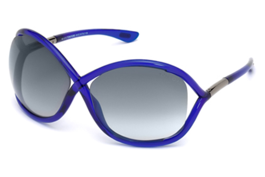 Tom Ford FT0009 Whitney Sunglasses in 90B Shiny Blue / Gradient Smoke