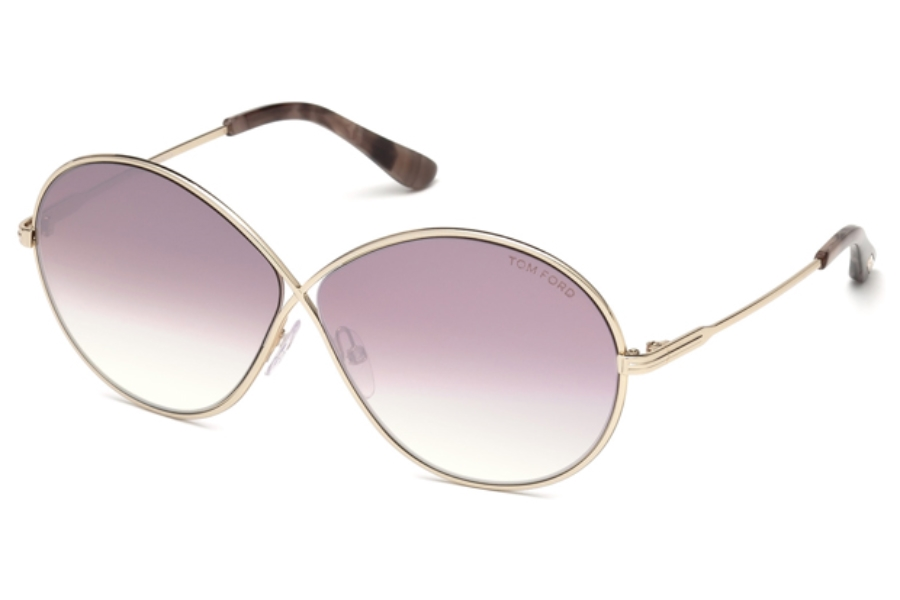 Tom Ford FT0564 Rania-02 Sunglasses in 28Z - Shiny Rose Gold / Gradient