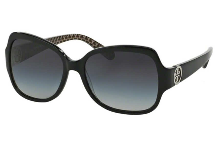 Tory Burch TY7059 Sunglasses in 114511 Black Stich Ty / Grey Gradient