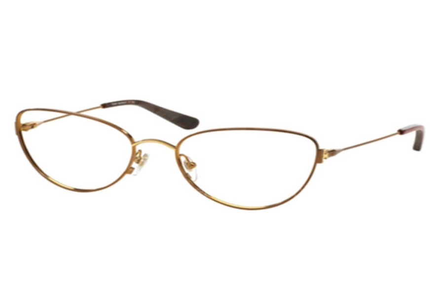 Tory Burch TY1042 Eyeglasses in 3072 Satin Chocolate Gold