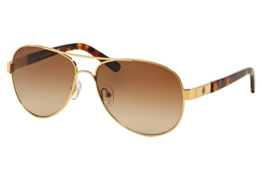 Tory Burch TY6010 Sunglasses in 462/13 Gold Tortoise / Brown Gradient (Discontinued)