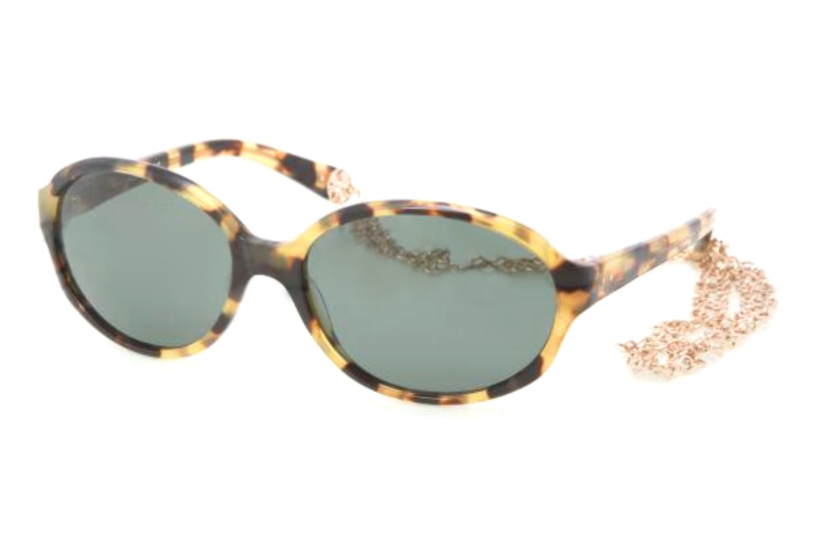 Tory Burch TY7039 Sunglasses in 504/71 SPOTTY TORTOISE GREEN SOLID