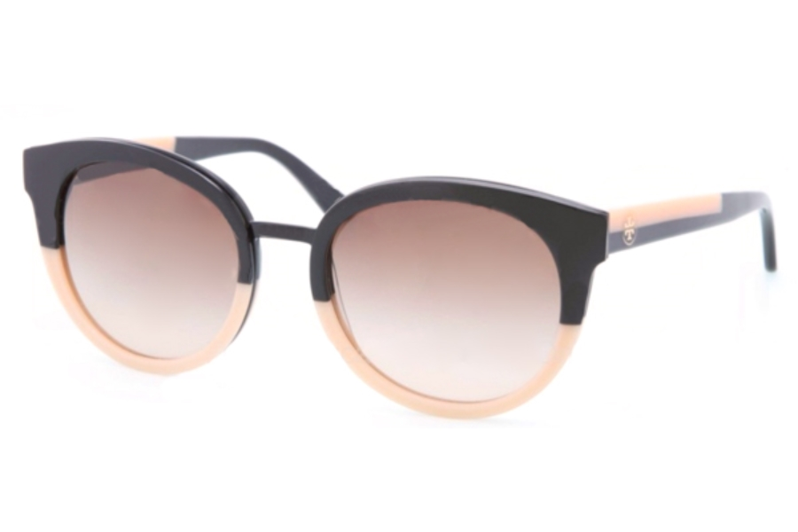 Tory Burch TY7062 Sunglasses in 123613 Black-Cream Brown Gradient (Discontinued)