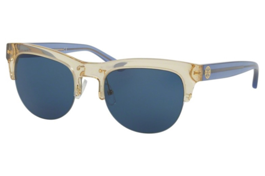 Tory Burch TY9045 Sunglasses in 154380 Pinot/Blue / Dk Blue Solid