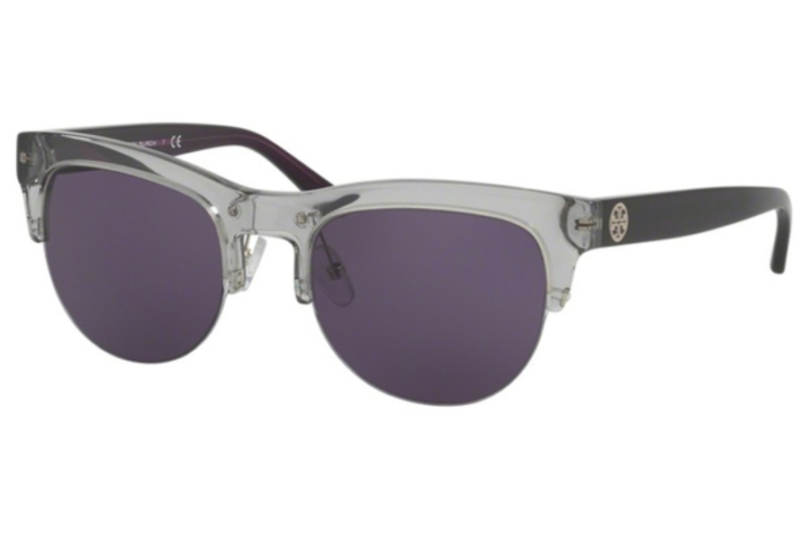 Tory Burch TY9045 Sunglasses in 15442S Lt. Grey/Blueberry / Dk. Purple Solid