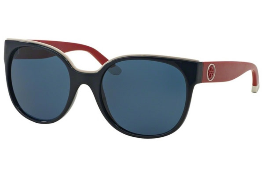 Tory Burch TY9042 Sunglasses in 148980 Navy/Racing Red
