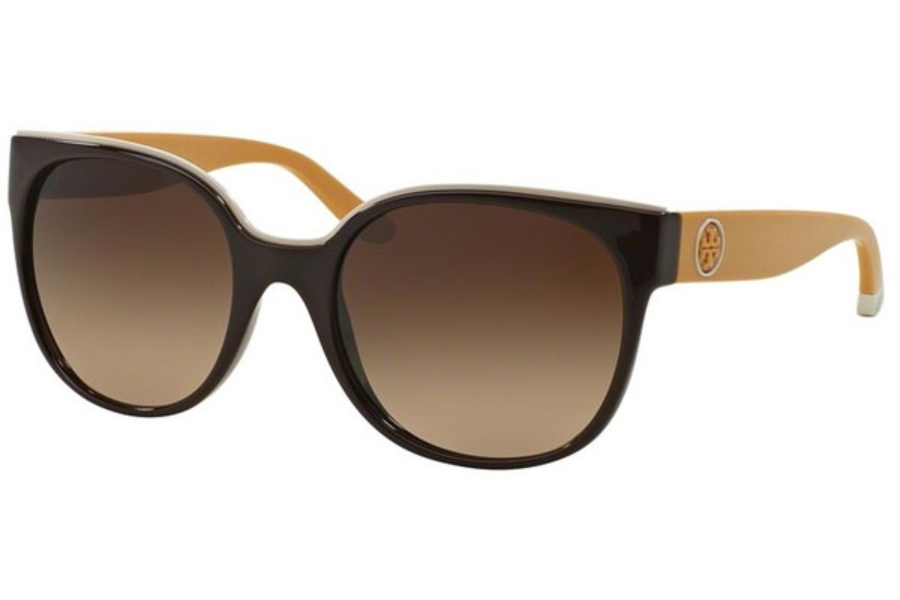 Tory Burch TY9042 Sunglasses in 149113 Espresso/Goldenrod