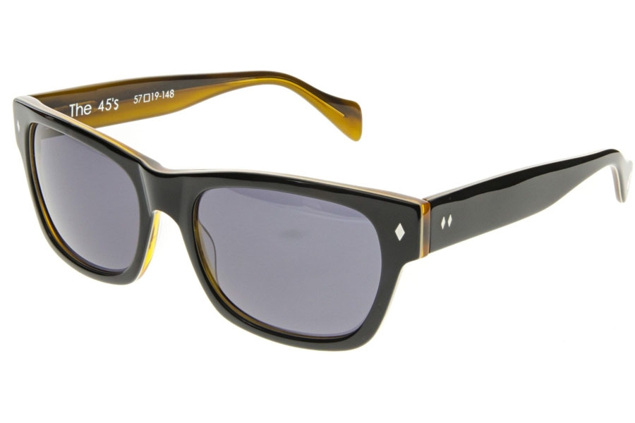Tres Noir 45's Sunglasses in Black+Honey Tortoise /Polarized (Discontinued)