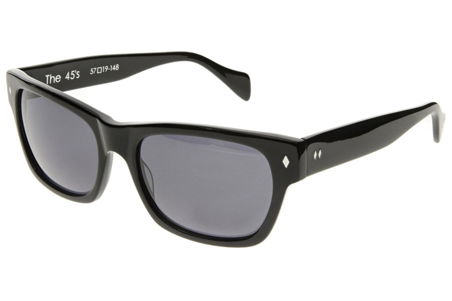 Tres Noir 45's Sunglasses in Black Polarized (Discontinued)